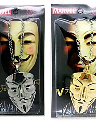 V for Vendetta Guy Fawkes Mask  Necklace Movie Cosplay Accessory