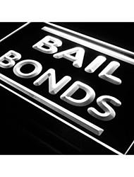 i604 Bail Bonds soldi Negozi Negozi di luce al neon segno