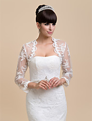 Wedding / Party/Evening / Casual Lace Coats/Jackets Long Sleeve Wedding  Wraps