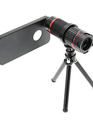 Увеличить 4-12X телефото Металл мобильного телефона объектива с треногой для IPhone 5S