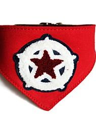 Red Star Leinwand Haustier Bandana Halsbänder für Hunde (verschiedene Größen)