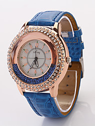 Cdong Moda Diamante Ladies Watch (blu)