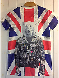 GIANNY Men'S 3D Printing Bear Pattern T-Shirts