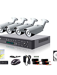 Liview® 4CH HDMI 960H Network DVR 700TVL Outdoor Day/Night Security Camera System 500GB Hard Drive