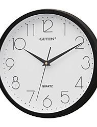 """12 """"H Brève Horloge murale de style Mute (Noir)"""