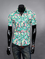 Men's Tops & Blouses , Cotton Blend/Polyester Casual Aowofs