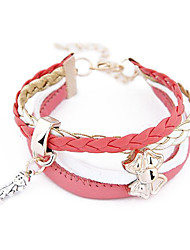 Europe and The United States Al-match Metal Girl Fall Butterfly  Cortical Multilayer Bracelet