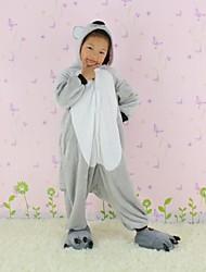 NEWCOSPLAY Cinza Koala flanela versão WC Crianças Kigurumi Pajama