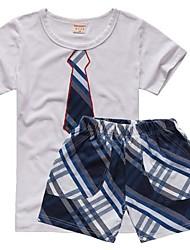 Verão Parágrafo Fina Boy Suit Acadêmico Manga de roupa por atacado de venda Crianças Algodão Infantil Pequeno