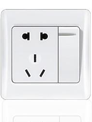 2-Pin Y 3-Pin Plug Socket Con Rocker Switch