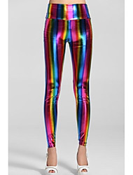 Women'sEmpire Cintura fluorescente Rainbow Leggings