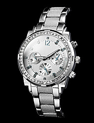 Women's Diamante Dial Number Round Dial Steel Band Quartz Luxury Watch (Assorted Color) Cool Watches Unique Watches Fashion Watch