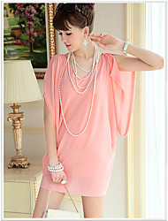 DABUWAWA Looose Chiffon Dress-69