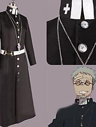 Inspiriert von Blue Exorcist Shiro Fujimoto Anime Cosplay Kostüme Cosplay Kostüme Patchwork Schwarz Lange Ärmel Umhang / Mantel / Gürtel