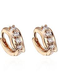 BIN BIN Women's 18K Gold Zircon Earings ER0098