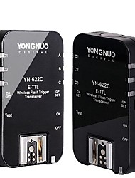 YONGNUO YN-622C Wireless E-TTL Flash Trigger voor Canon / Max 1/8000s Sync Speed ​​- Zwart