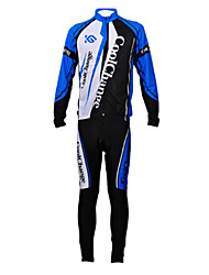 CoolChange Men's Breathable Long Sleeve Bicycle Tight-fitting Dark Blue Suit