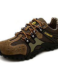 Men's Hiking Shoes Leather Green / Gray