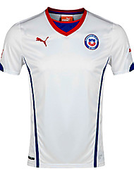 Men's SoccerJersey Short Sleeves White
