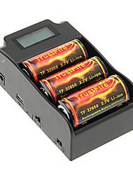 TrustFire 32650 6000mAh da bateria com proteção de sobrecarga (3pcs) + TrustFire TR-008 Carregador de Bateria