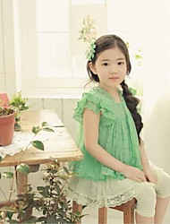 Girl's Blouse Cotton / Lace Summer
