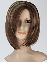 Women Capless Fashion Short Straight highlight Synthetic Wig Side Parting