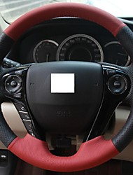 XuJi ™ Black Red Genuine Leather Steering Wheel Cover for Honda Accord 9 2013 2014