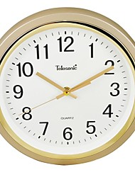 """Telesonic™ 11""""H  Brief Frosted Housing Super Mute Wall Clock"""