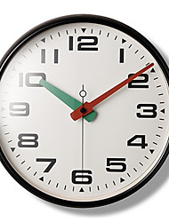 "15.2"" Black Metal Frame Glass Dial Red and Green Pointer Wall Clock"