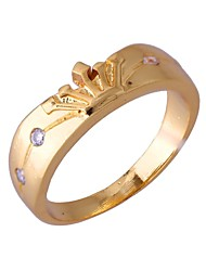 Unisex's  Fashion Unique Design Plated 18K Gold  AAA CZ Rings
