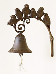 Retro Exotic Singing Birds Of Wrought Iron Hand-type Door Bell