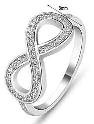 Genuine 925 Sterling Silver 8-Shaped Wedding Jewelry Knot Flowers Rings for Women Brand Lady Infinity Ring