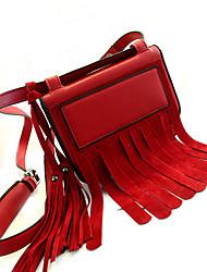 AIBAOBAO Women's Tassel Pu Leather Tote 14*5*20cm