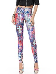 Women Print Legging , Polyester/Spandex
