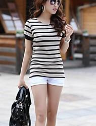 Strip Black White T-shirt des femmes