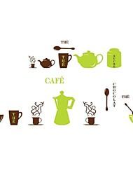 ® copo de café dos desenhos animados crianças berçário da parede da sala de adesivos de parede decalques Arte Createforlife