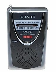 OJADE OE-1201, mini portátil AM / FM 2-Band Radio