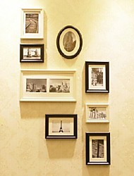 White Black Photo Frame Collection Set of 8