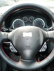 Xuji ™ Preto Couro cobertura de volante para Old Hyundai Santa Fe 2004 Santa Fe