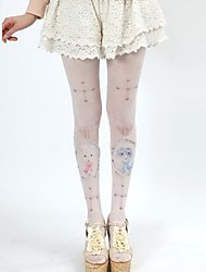 Candy Girl Cute Cat & Cross Pattern Sweet Lolita Stockings Tights
