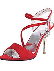 De flocagem Mulheres Stiletto Sling Voltar Sandals (mais cores)