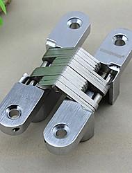 Classique Solid Silver Cross satinée forme pliante Charnière de porte