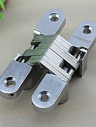Classic Silver Solid Satin Cross Shape Folding Door Hinge