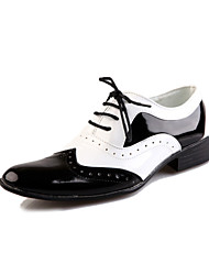 Men's Shoes Party & Evening Leather Oxfords Black/White