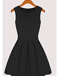 KICAI  Sleeveless Vest Dress(Black)