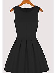 KICAI mangas Vest Dress (preto)