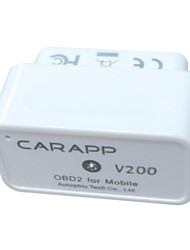 CARAPP ® OBD2 OBDII Bluetooth Car Auto Scan Tool diagnostic voyage Mini voiture Smart Computer V200 - Prise en charge iOS et Android