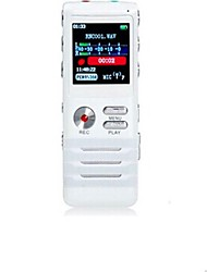 Co-crea Dual-core Digital Voice Recorder 4GB (White)