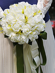 Elegant Round Shape Silk Wedding Bouquet