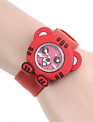 Kinderen Tiger Pattern Silica Gel Clap Watch (1 st)